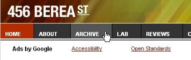 CSS Navigation Showcase: 456bereastreet.com