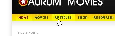 CSS Navigation Showcase: Aurum3.com | Movies