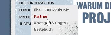 CSS Navigation Showcase: 5000xzukunft.de