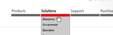 CSS Navigation Showcase: Adobe.com