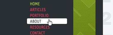 CSS Navigation Showcase: Badboy.ro