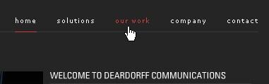 CSS Navigation Showcase: Deardoffinc.com
