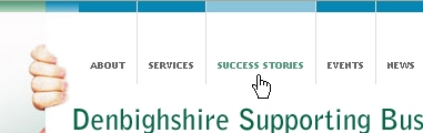 CSS Navigation Showcase: Denbighshiresupportingbusiness.co.uk