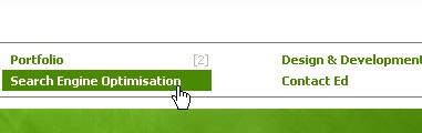 CSS Navigation Showcase: Edmerrit.com