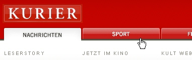 CSS Navigation Showcase: Kurier.at