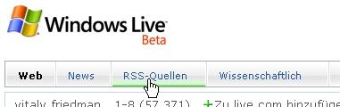 CSS Navigation Showcase: Live.com