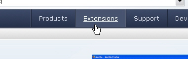 CSS Navigation Showcase: Mozilla.com