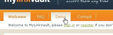 CSS Navigation Showcase: Mylinkvault.com