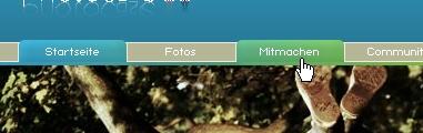 CSS Navigation Showcase: Photocase.com