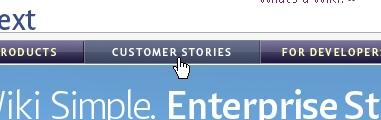 CSS Navigation Showcase: Socialtext.com