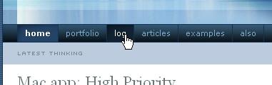 CSS Navigation Showcase: stopdesign.com