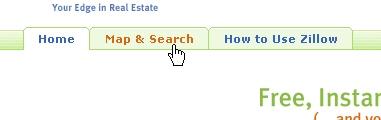 CSS Navigation Showcase: Zillow.com